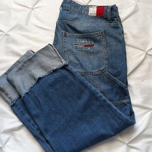 Tommy Hilfiger Sz 14 Cargo Capri Spellout Jeans